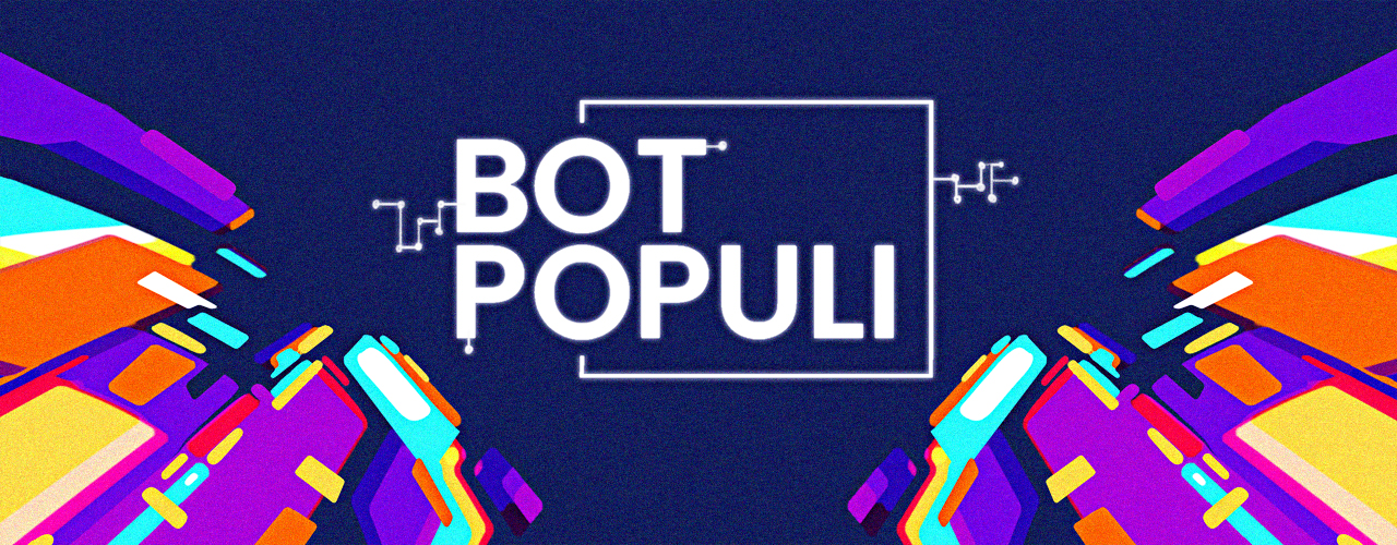 Banner for about us page with the bot populi banner in the center